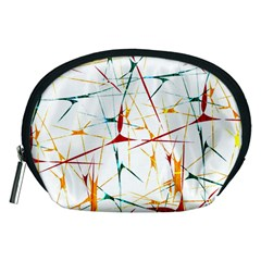 Colorful Splatter Abstract Shapes Accessory Pouch (Medium)