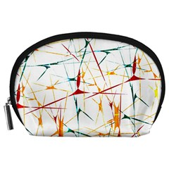 Colorful Splatter Abstract Shapes Accessory Pouch (Large)