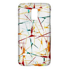 Colorful Splatter Abstract Shapes Samsung Galaxy S5 Mini Hardshell Case