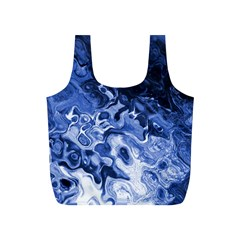 Blue Waves Abstract Art Reusable Bag (s)