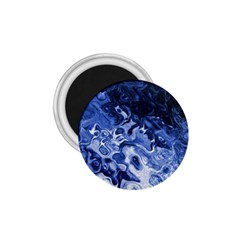 Blue Waves Abstract Art 1 75  Button Magnet