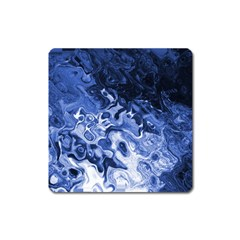 Blue Waves Abstract Art Magnet (square)