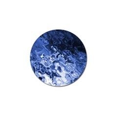 Blue Waves Abstract Art Golf Ball Marker 10 Pack