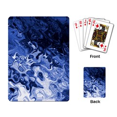 Blue Waves Abstract Art Playing Cards Single Design