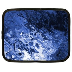 Blue Waves Abstract Art Netbook Sleeve (large)