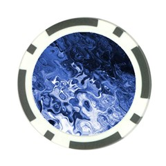 Blue Waves Abstract Art Poker Chip (10 Pack)