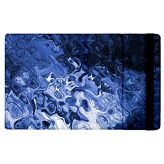 Blue Waves Abstract Art Apple iPad 3/4 Flip Case