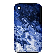 Blue Waves Abstract Art Apple iPhone 3G/3GS Hardshell Case (PC+Silicone)