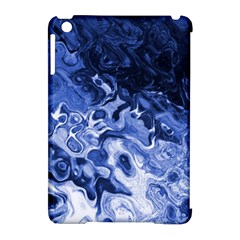 Blue Waves Abstract Art Apple iPad Mini Hardshell Case (Compatible with Smart Cover)