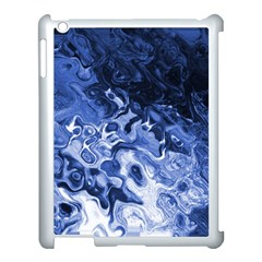 Blue Waves Abstract Art Apple Ipad 3/4 Case (white)