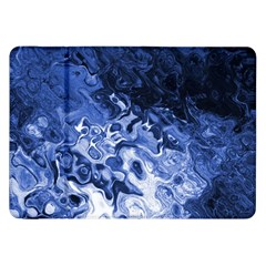 Blue Waves Abstract Art Samsung Galaxy Tab 8 9  P7300 Flip Case