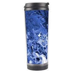 Blue Waves Abstract Art Travel Tumbler