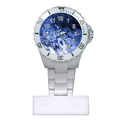 Blue Waves Abstract Art Nurses Watch