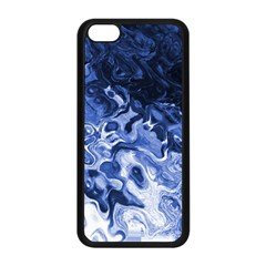 Blue Waves Abstract Art Apple iPhone 5C Seamless Case (Black)