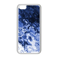 Blue Waves Abstract Art Apple Iphone 5c Seamless Case (white)