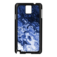 Blue Waves Abstract Art Samsung Galaxy Note 3 N9005 Case (black)