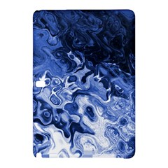 Blue Waves Abstract Art Samsung Galaxy Tab Pro 12 2 Hardshell Case