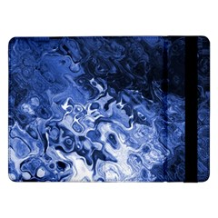 Blue Waves Abstract Art Samsung Galaxy Tab Pro 12 2  Flip Case