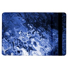 Blue Waves Abstract Art Apple iPad Air Flip Case