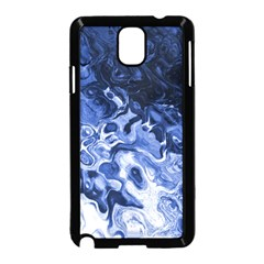 Blue Waves Abstract Art Samsung Galaxy Note 3 Neo Hardshell Case (Black)
