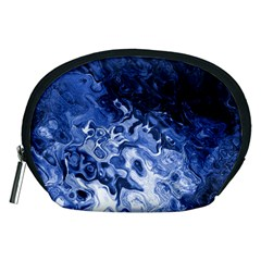 Blue Waves Abstract Art Accessory Pouch (medium)