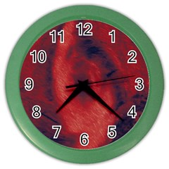 Blood Waterfall Wall Clock (Color)