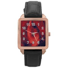 Blood Waterfall Rose Gold Leather Watch