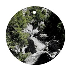 Yosemite National Park Round Ornament (two Sides)