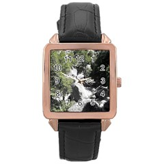Yosemite National Park Rose Gold Leather Watch