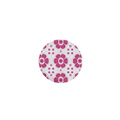 Sweety Pink Floral Pattern 1  Mini Button Magnet