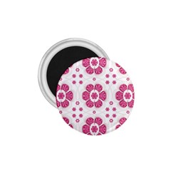 Sweety Pink Floral Pattern 1.75  Button Magnet