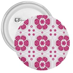 Sweety Pink Floral Pattern 3  Button