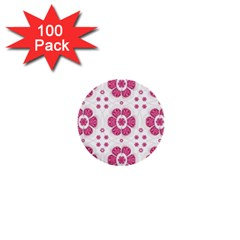 Sweety Pink Floral Pattern 1  Mini Button (100 Pack)