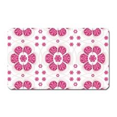 Sweety Pink Floral Pattern Magnet (rectangular)