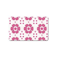 Sweety Pink Floral Pattern Magnet (Name Card)
