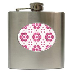 Sweety Pink Floral Pattern Hip Flask