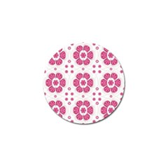 Sweety Pink Floral Pattern Golf Ball Marker 10 Pack