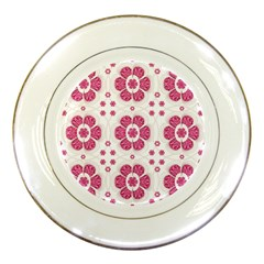 Sweety Pink Floral Pattern Porcelain Display Plate