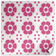 Sweety Pink Floral Pattern Canvas 16  x 16  (Unframed)