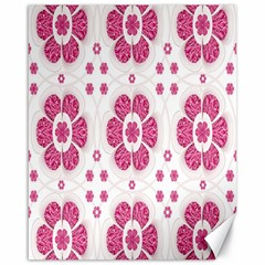 Sweety Pink Floral Pattern Canvas 16  x 20  (Unframed)
