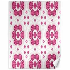Sweety Pink Floral Pattern Canvas 18  x 24  (Unframed)