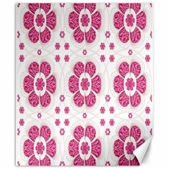 Sweety Pink Floral Pattern Canvas 20  x 24  (Unframed)
