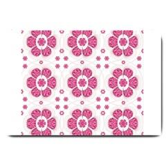 Sweety Pink Floral Pattern Large Door Mat