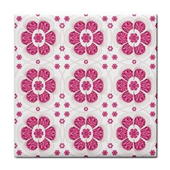 Sweety Pink Floral Pattern Face Towel