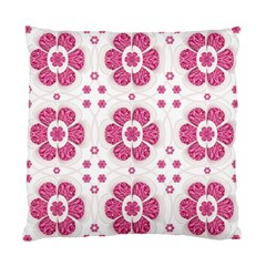 Sweety Pink Floral Pattern Cushion Case (two Sided)