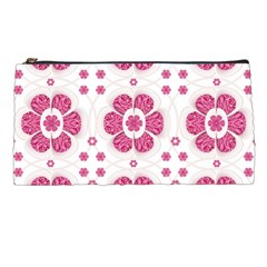 Sweety Pink Floral Pattern Pencil Case