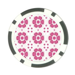 Sweety Pink Floral Pattern Poker Chip (10 Pack)