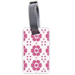 Sweety Pink Floral Pattern Luggage Tag (Two Sides)