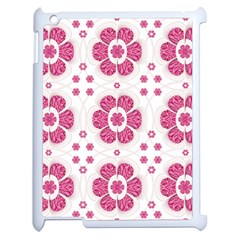 Sweety Pink Floral Pattern Apple Ipad 2 Case (white)