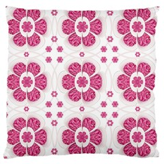 Sweety Pink Floral Pattern Large Cushion Case (single Sided)